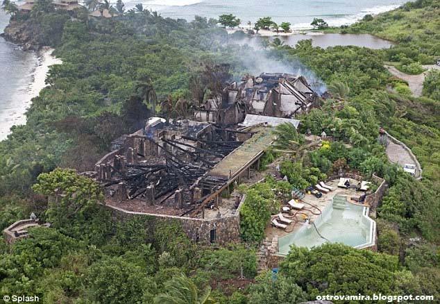 После пожара на острове